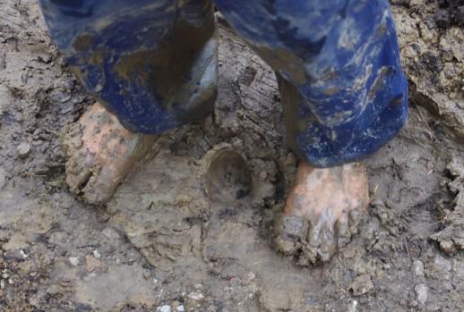 muddy feet small